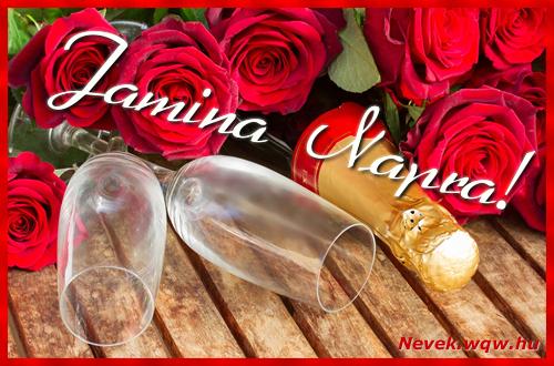 Jamina üdvözlőlap