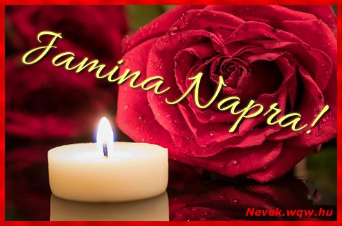 Jamina képeslap