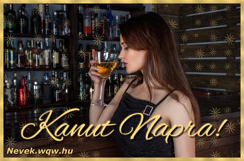 Névre szóló képeslap Kanut névnapra