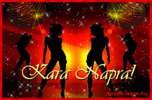 Kara névnapi képeslap
