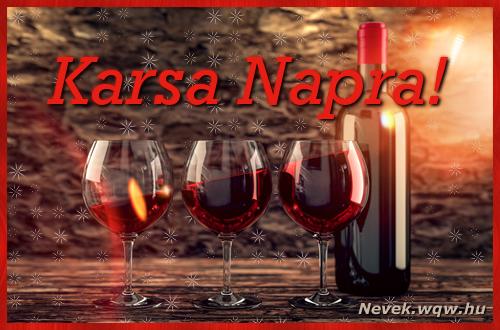 Vörösbor Karsa névnapra