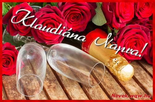 Klaudiána üdvözlőlap