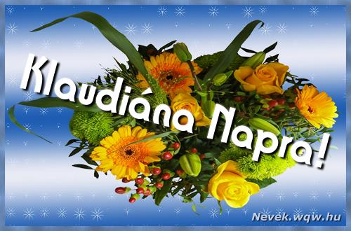 Klaudiána névnapi képeslap
