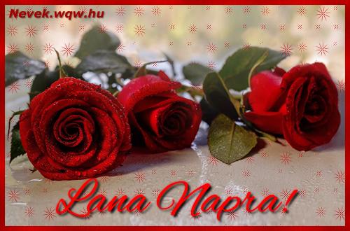 Névre szóló képeslap Lana napra