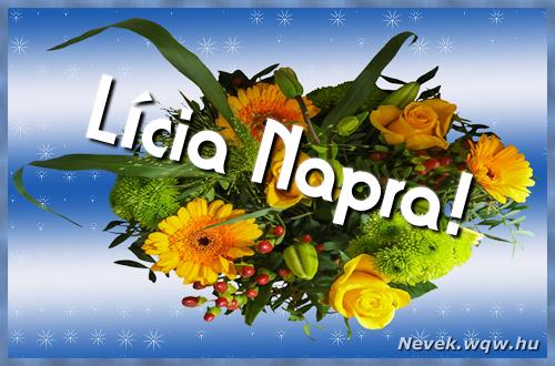 Lícia névnapi képeslap
