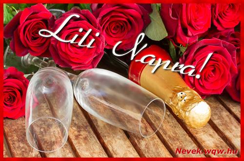 Lili üdvözlőlap