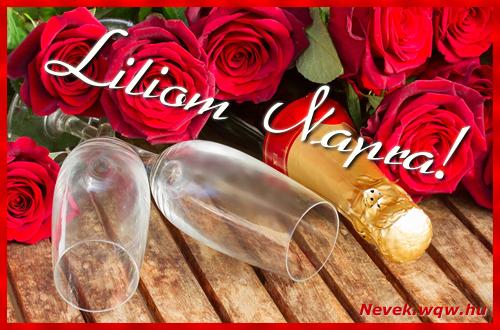 Liliom üdvözlőlap
