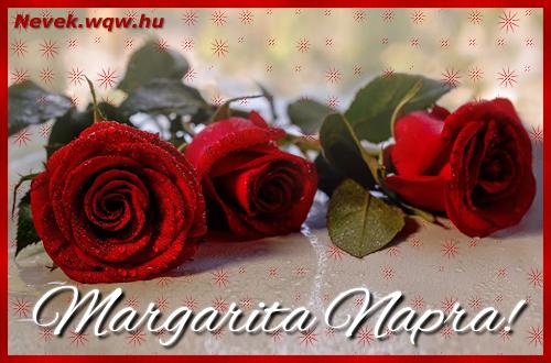 Névre szóló képeslap Margarita napra