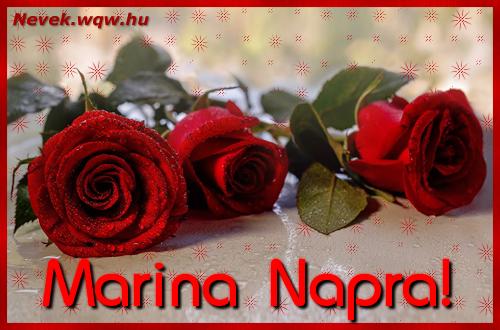 Névre szóló képeslap Marina napra