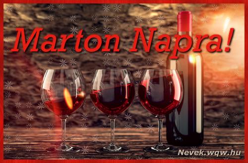 Vörösbor Marton névnapra
