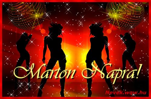 Marton névnapi képeslap