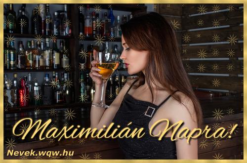 Névre szóló képeslap Maximilián névnapra