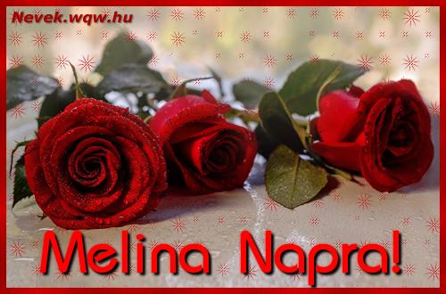 Névre szóló képeslap Melina napra