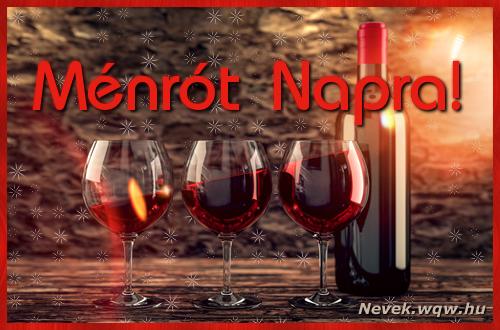 Vörösbor Ménrót névnapra