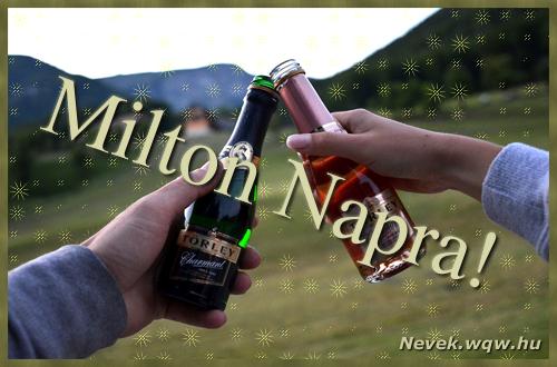 Milton képeslap