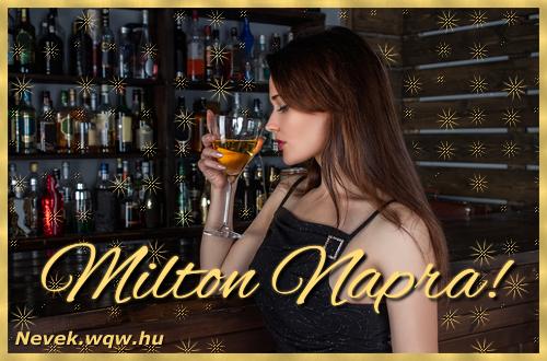 Névre szóló képeslap Milton névnapra