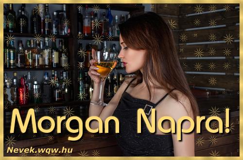 Névre szóló képeslap Morgan névnapra