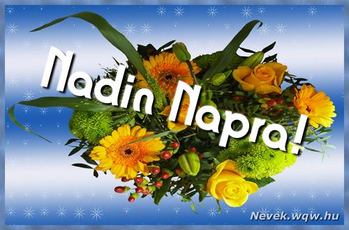 Nadin névnapi képeslap