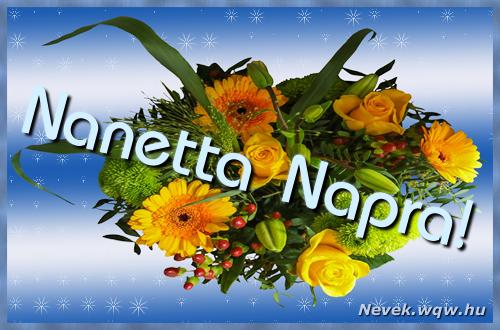 Nanetta névnapi képeslap
