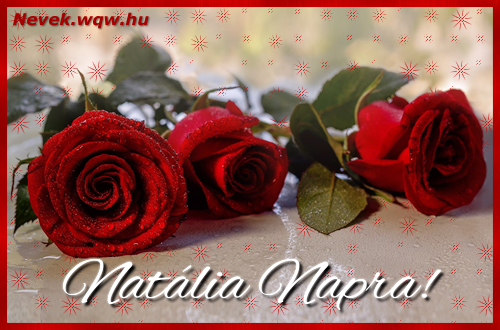 Névre szóló képeslap Natália napra