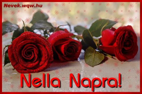 Névre szóló képeslap Nella napra