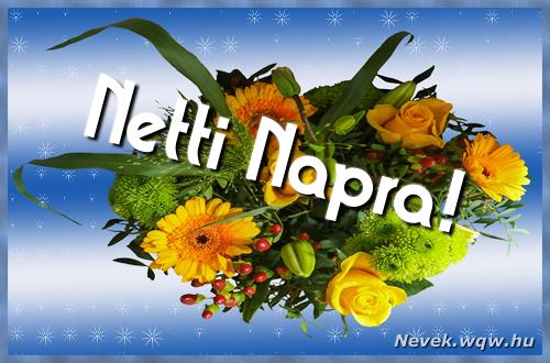 Netti névnapi képeslap