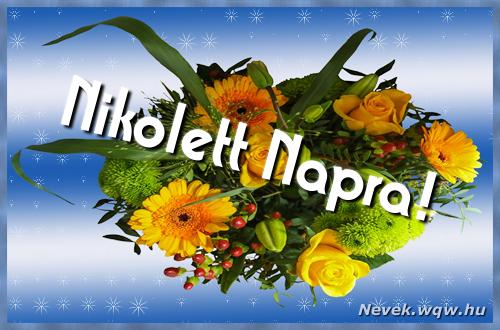 Nikolett névnapi képeslap