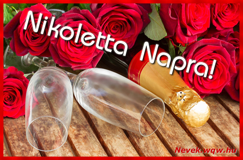 Nikoletta üdvözlőlap