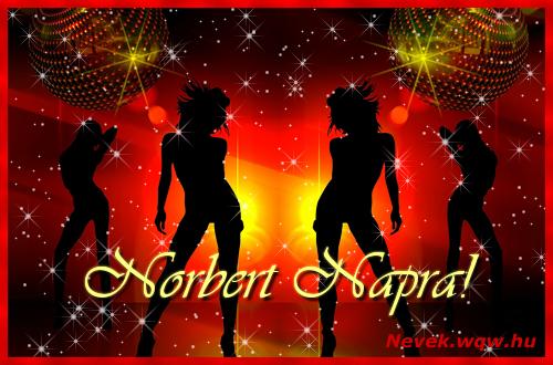 Norbert névnapi képeslap