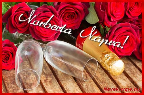 Norberta üdvözlőlap
