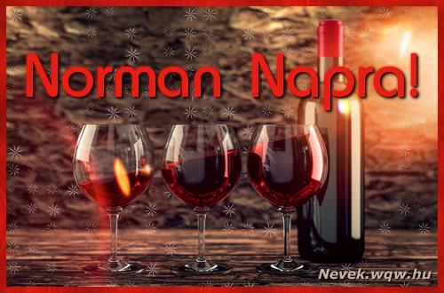 Vörösbor Norman névnapra