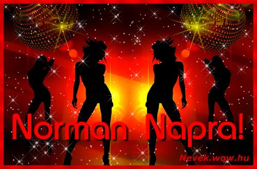 Norman névnapi képeslap