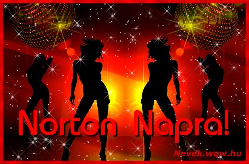 Norton névnapi képeslap