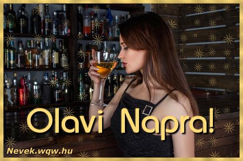 Névre szóló képeslap Olavi névnapra