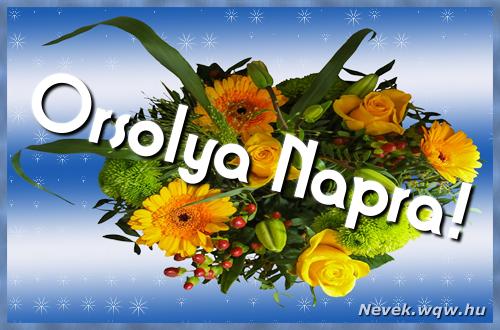 Orsolya névnapi képeslap