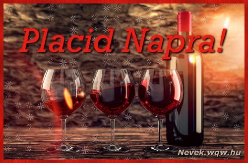 Vörösbor Placid névnapra