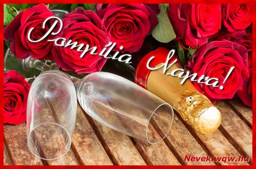 Pompília üdvözlőlap