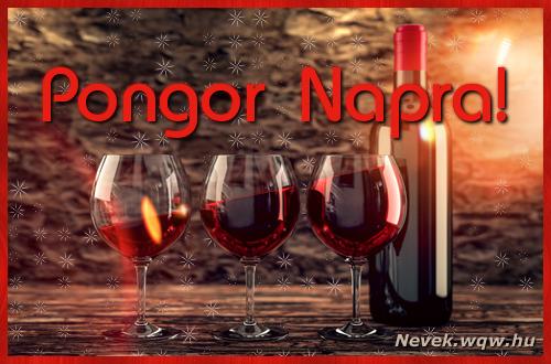 Vörösbor Pongor névnapra