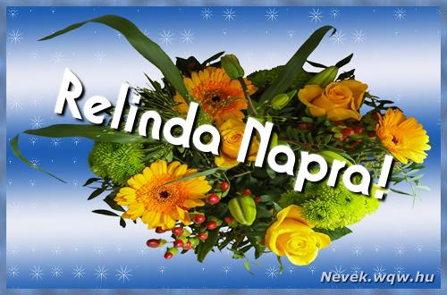 Relinda névnapi képeslap