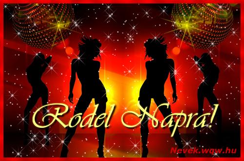 Rodel névnapi képeslap