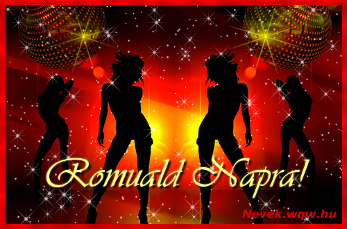 Romuald névnapi képeslap