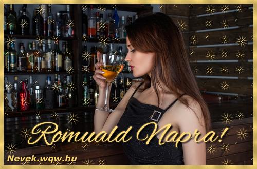 Névre szóló képeslap Romuald névnapra
