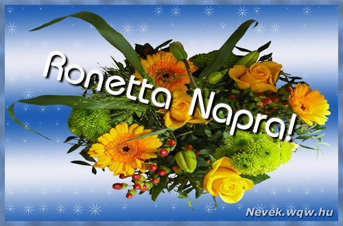 Ronetta névnapi képeslap