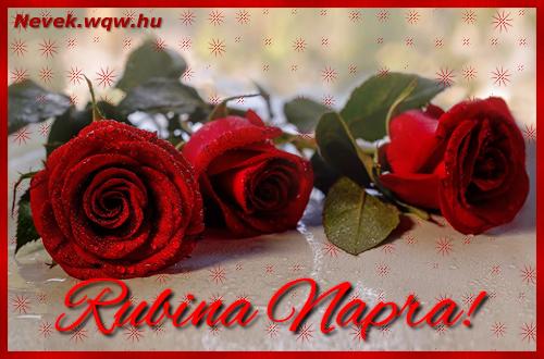 Névre szóló képeslap Rubina napra