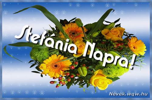 Stefánia névnapi képeslap