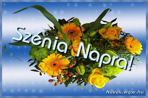 Szénia névnapi képeslap