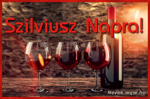 Vörösbor Szilviusz névnapra