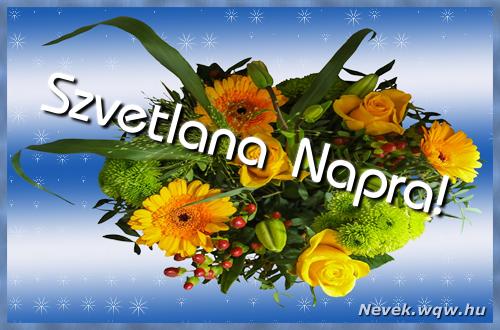 Szvetlana névnapi képeslap