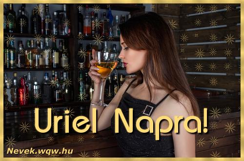 Névre szóló képeslap Uriel névnapra