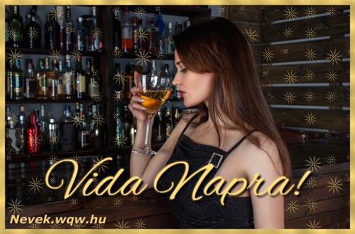 Névre szóló képeslap Vida névnapra